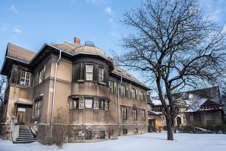 Sídlo stavitele Františka Grossmanna v ulici Na Zapadlém u Krajského úřadu v Ostravě