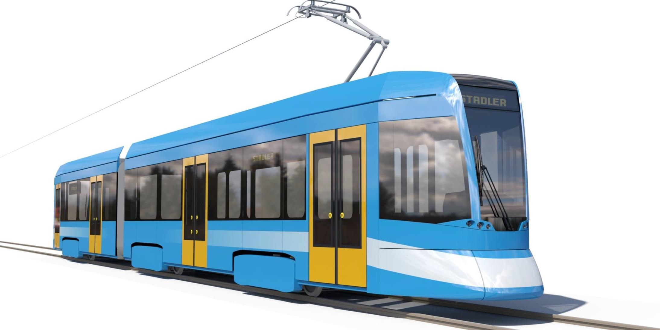 Vizualizace nové tramvaje pro Ostravu