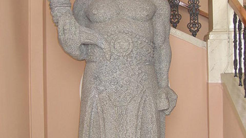 Originál sochy boha Radegasta