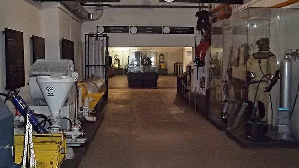 Expozice důlního záchranářství v ostravském Landek Parku