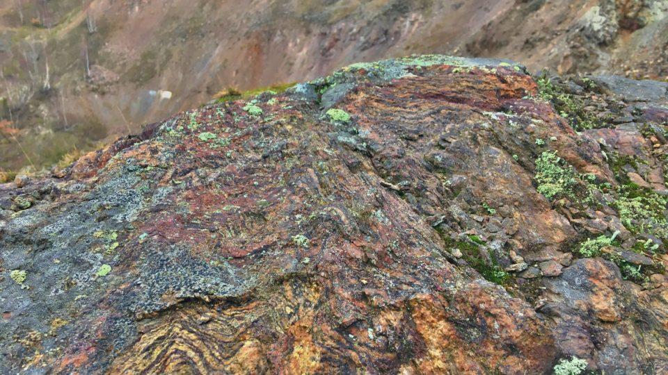 Huberův peň je učebnicí geologie