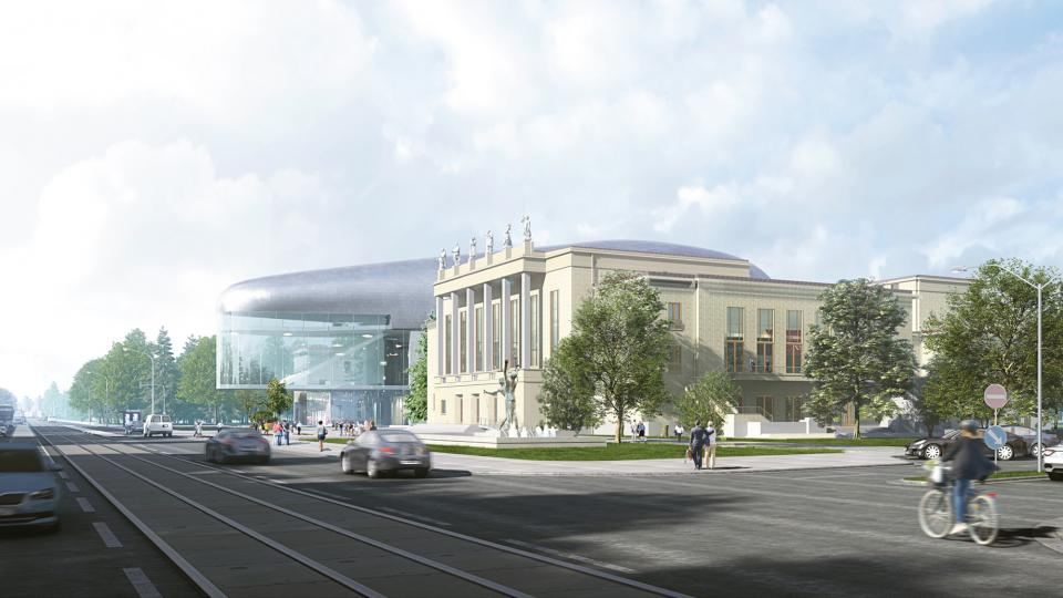 Vizualizace nové koncertní haly v Ostravě