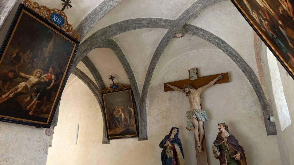 Gotická křížová chodba je zřejmě jediná autenticky zachovaná v kraji