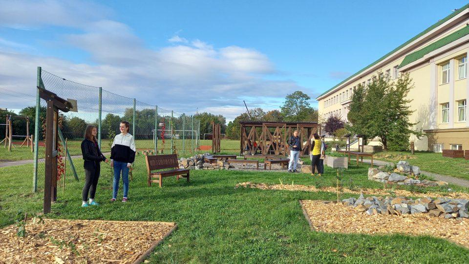 Školní přírodovědný okruh s altánovou učebnou