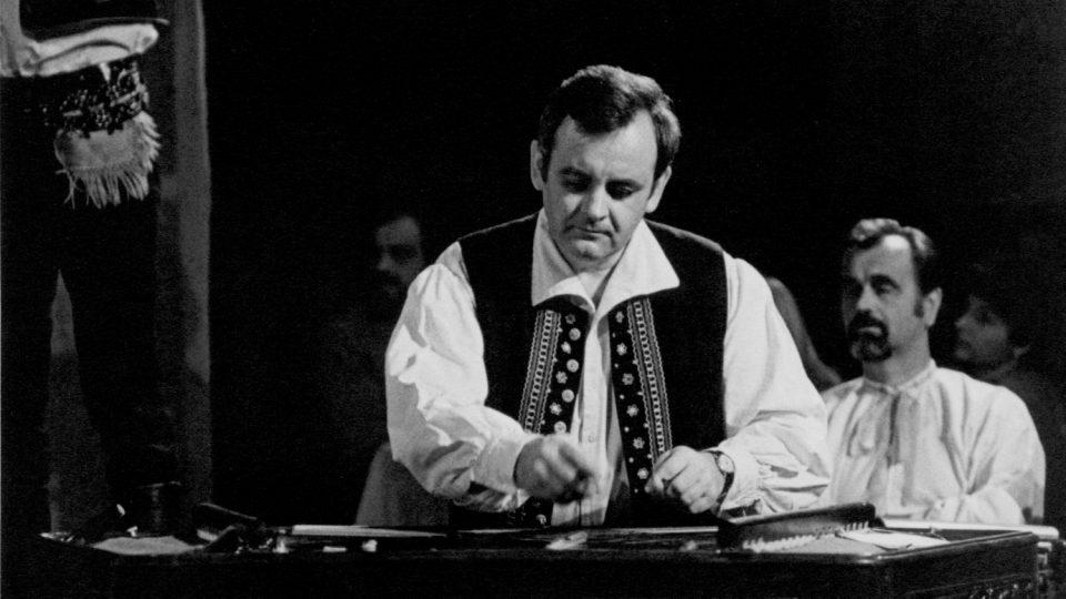 Cimbalista a folklorista Jan Rokyta v roce 1983