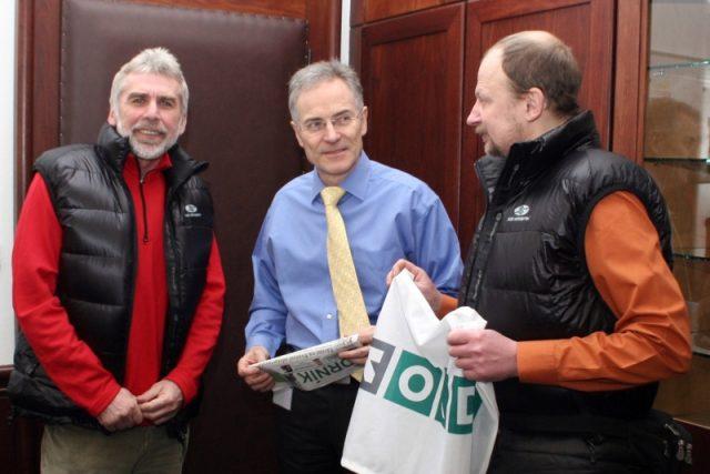 Zleva: Milan Pěgřímek,  předseda představenstva OKD Klaus-Dieter Beck a Věslav Chrzaszcz | foto:  www.okd.cz