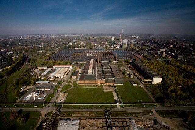 Areál společnosti ArcelorMittal Ostrava