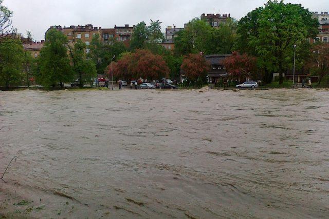 Záplavy v Českém Těšíně