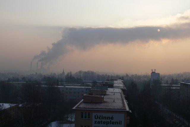 Ostravské ovzduší ráno 30. ledna 2012