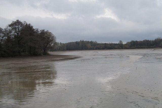 Vypuštěný rybník Katlov