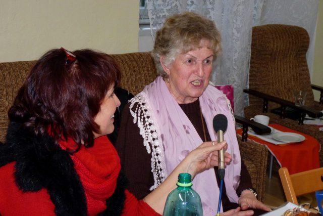 Spisovatelka Jana Schlossarková (s Dagmar Misařovou)
