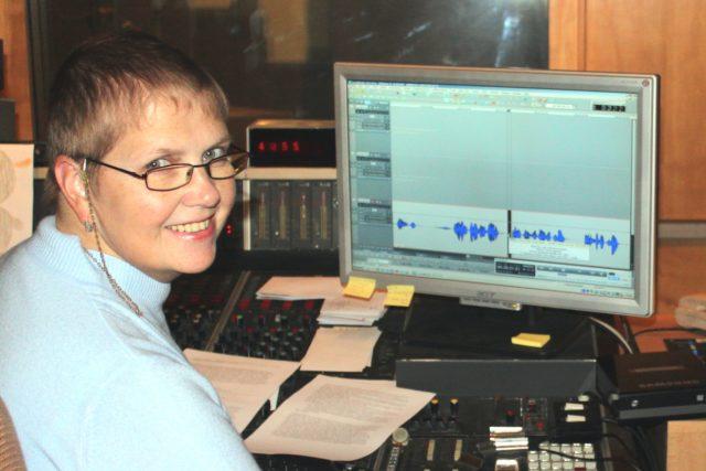Mistr zvuku Hana Kovalová v R2  (režie 2) | foto:  osobní archiv