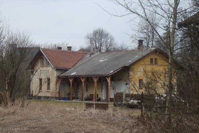 Dvorce - bývalé nádraží - pohled do kolejiště