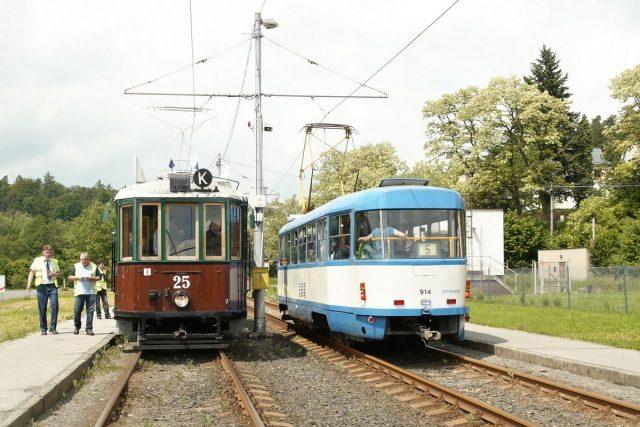 Depozitář historických vozidel - historická tramvaj č. 25