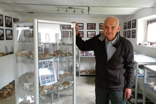 Pan Jiří Dudek, sběratel kamenů z Hlučína