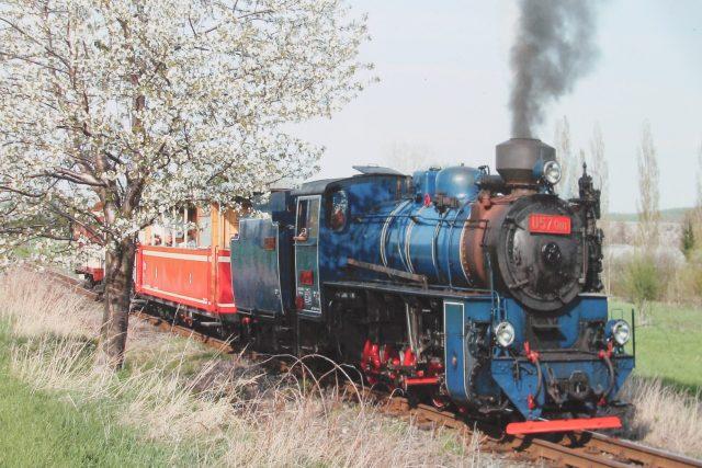 Parní vlak na cestě do Osoblahy