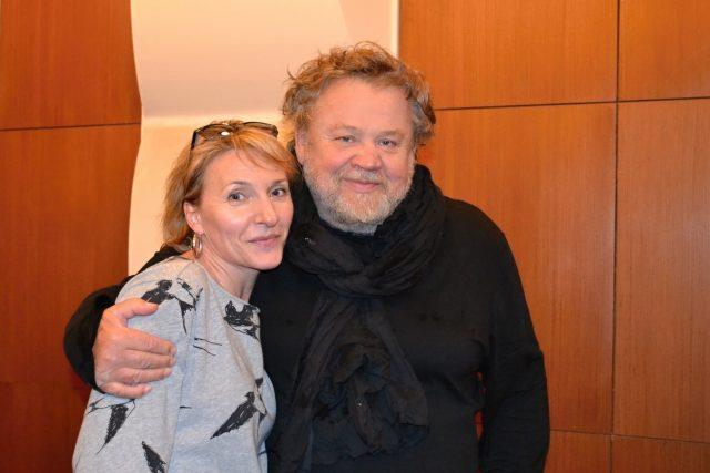 Fotograf Antonín Kratochvíl s autorkou Koktejlu Kateřinou Huberovou
