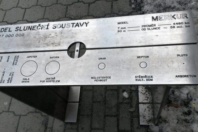 Model Merkuru u Slezského divadla v Opavě | foto: Romana Kubicová,  Český rozhlas