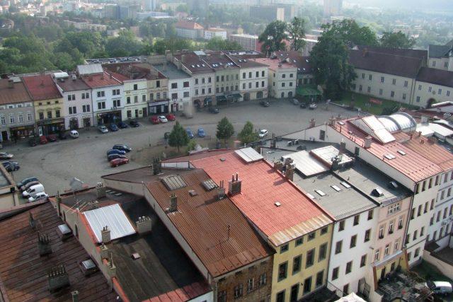 Pohled z věže na frýdecké náměstí