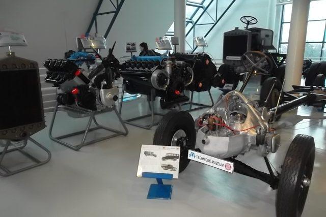 Technické muzeum Tatra v Kopřivnici na severní Moravě má ve svých sbírkách řadu veteránů