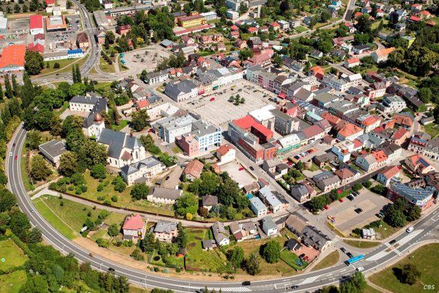 Letecký snímek Hlučína