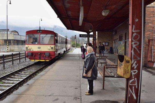 Na nádraží v Kopřivnici přijel motorák do Studénky