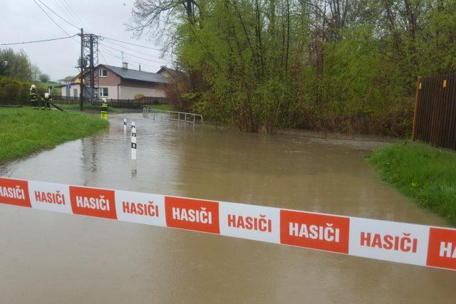 Polančice v Polance nad Odrou, kde platí 3. stupeň povodňové aktivity