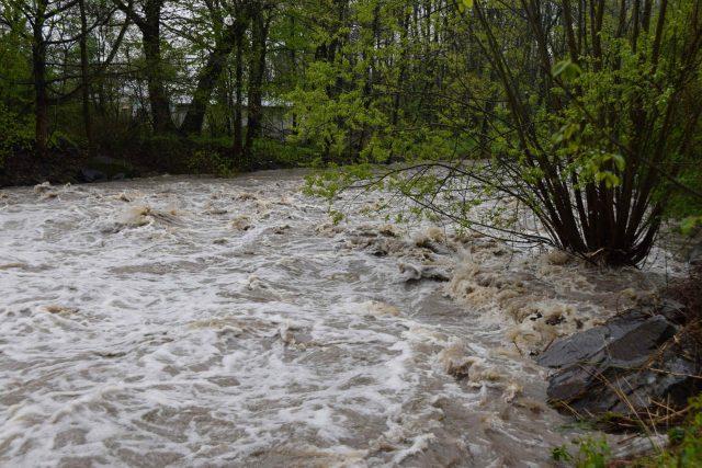 Lubina v Kopřivnici-Lubině dosáhla 2. stupně povodňové aktivity