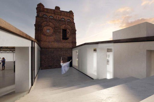 Vítězný návrh soutěže na konverzi jatek, autorem je studio Petr Hájek Architekti z Prahy