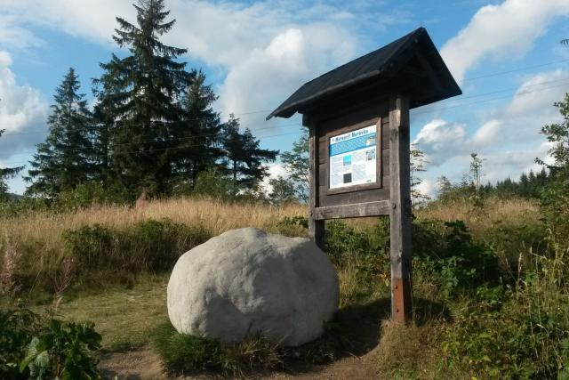 Model meteoritu Morávka na beskydském Grúni | foto: Romana Kubicová,  Český rozhlas