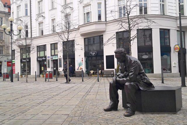 Socha Leoše Janáčka na Jiráskově náměstí v centru Ostravy