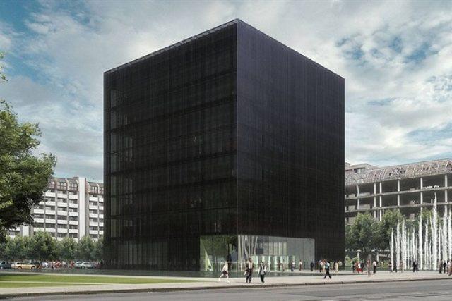 Vizualizace nového sídla Moravskoslezské vědecké knihovny