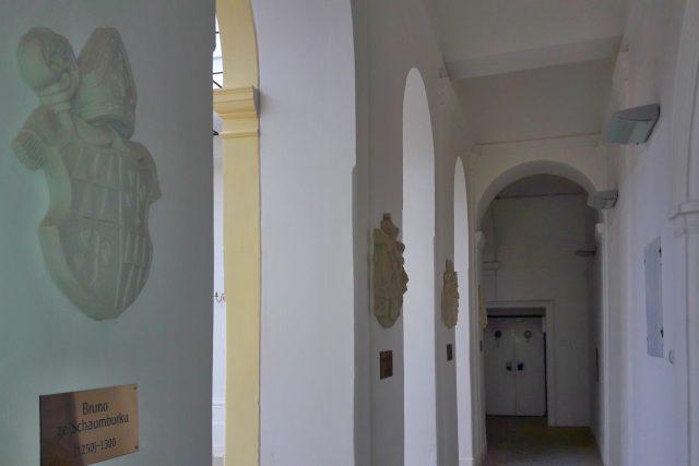 Expozice erbů držitelů paskovského panství