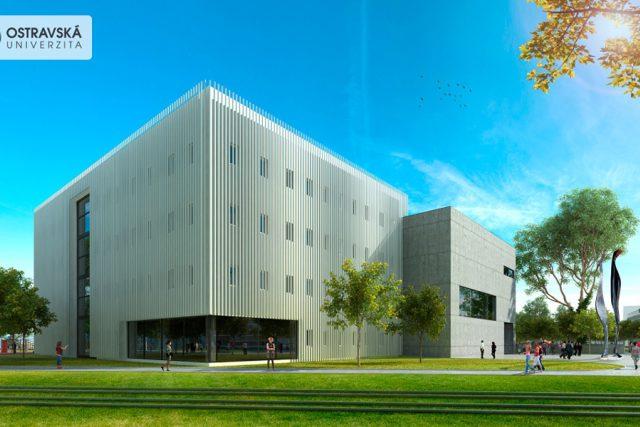 Vizualizace nových budov Ostravské univerzity na Černé louce