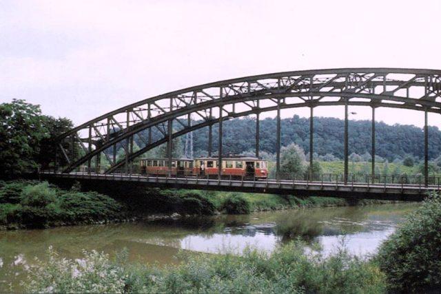 Tramvajová trať Ostrava - Petřkovice - Hlučín, most přes Odru