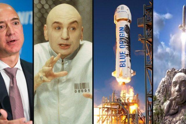 Jeff Bezos vyslal do vesmíru obří dildo,  internet se mu směje   foto: internetový humor/autor neznámý