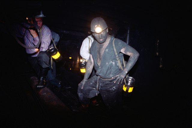 horník, důl, ilustrační foto