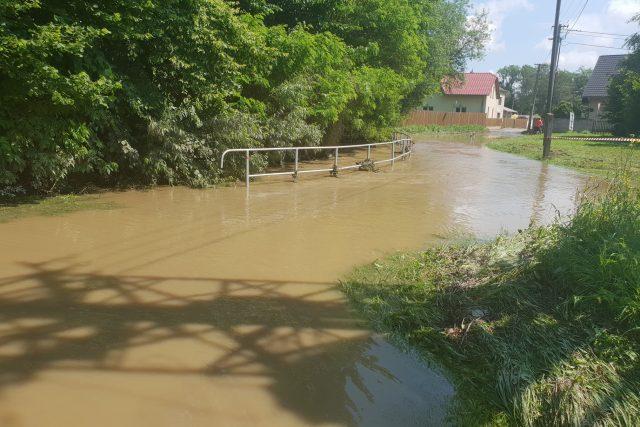 Polančice v Polance nad Odrou při poslední bleskové povodni