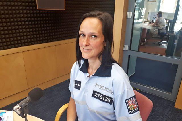 Nprap. Karla Špaltová,  preventistka PČR   foto: Eva Panošová,  Český rozhlas,  Český rozhlas