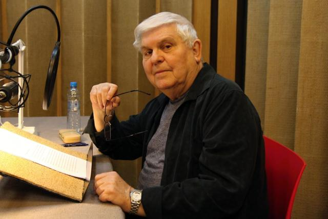 Stanislav Šárský při natáčení Pověstí z Jeseníků