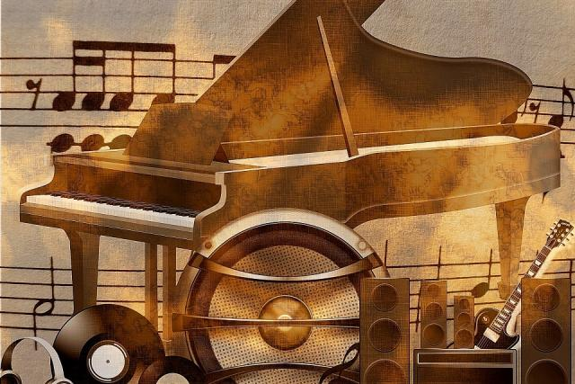 Noty, klavír, hudba (ilustrační foto)