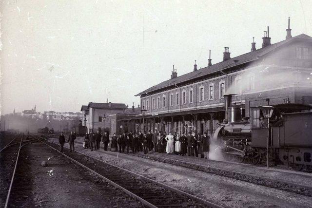 Frýdecké nádraží kolem roku 1890