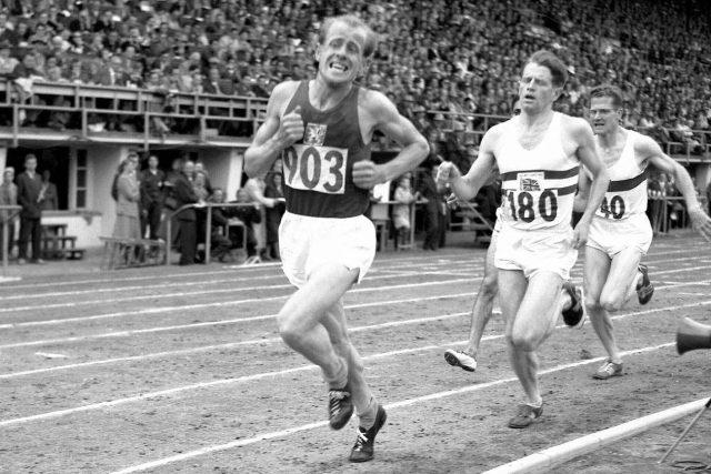 Emil Zátopek na olympiádě v Helsinkách v roce 1952 | foto: autor neznámý,  Wikimedia Commons,  CC0 1.0