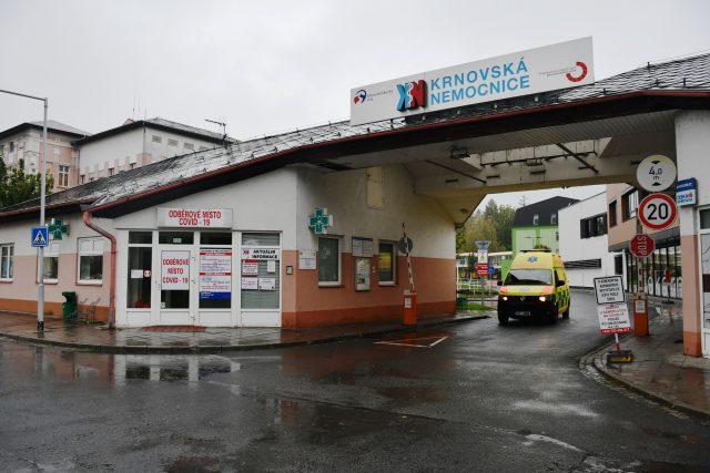 Krnovská nemocnice, odběrové místo na covid-19