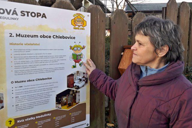 Včelařka Marie Knödlová, zakladatelka Včelařského naučného areálu s muzeem v Chlebovicích