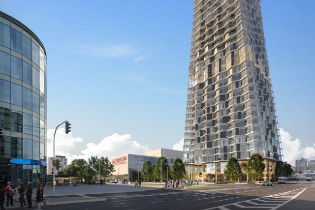 Vizualizace nové podoby ostravského mrakodrapu | foto: Chybik+Kristof Architects