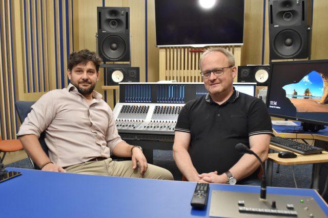 Mistr zvuku Aleš Huber (vlevo) a folklorista a hudební režisér Jan Rokyta