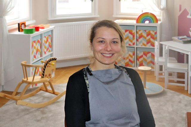 Zuzana Kolebačová,  jedna ze zakladatelek v herně Šťastného domečku | foto: Katarzyna Czerna,  Český rozhlas