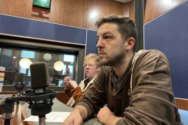 Štěpán Kozub (v pozadí) a Albert Čuba