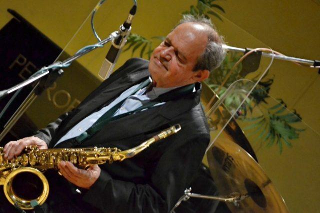 Saxofonista Rudolf Březina   foto: František Tichý,  Český rozhlas